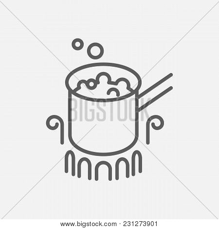 Stovetop Espresso Icon Line Symbol. Isolated  Illustration Of  Icon Sign Concept For Your Web Site M