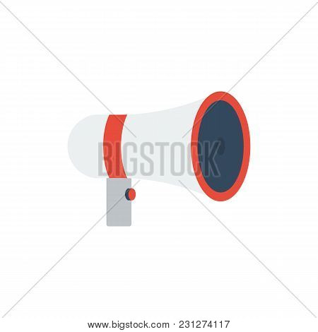Movie Loudspeaker Icon Flat Symbol. Isolated Vector Illustration Of Megaphone Sign Concept For Your