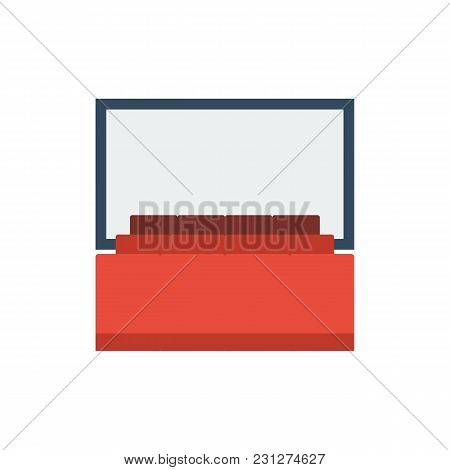 Cinema Icon Flat Symbol. Isolated Vector Illustration Of Stage Sign Concept For Your Web Site Mobile