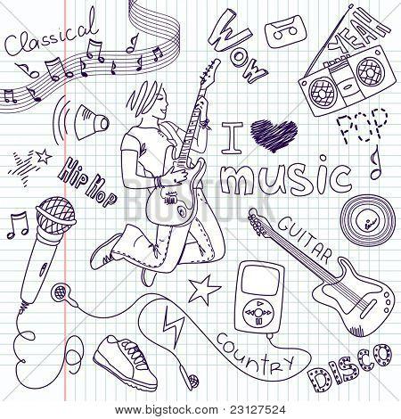 Music Vector Doodles poster