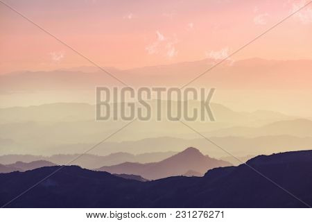 Beautiful mountains landscape in Costa Rica, Central America