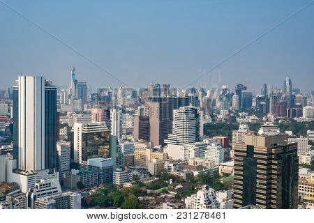 Cityscape In The Daytime At Bangkok, Thailand