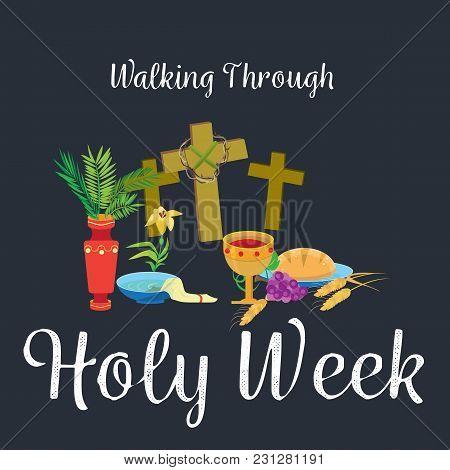 Holy Week Last Supper Of Jesus Christ, Thursday Maundy, Established The Sacrament Of Holy Communion