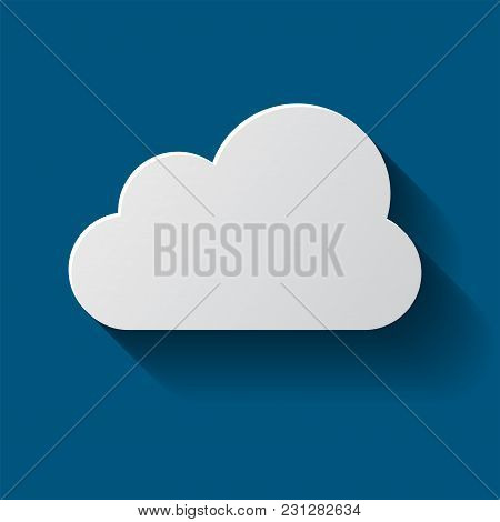 Cloud Icon Isolated On Background. Cloud Flat Illustration Vector