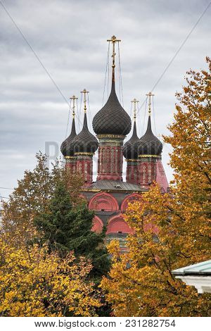 Russia, Yaroslavl-september 29.2016. Church Of St. Nicholas In The Tchaikovsky Street