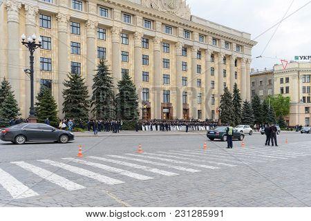 Police In The Square In Kharkiv