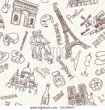 Sightseeing in Paris doodles