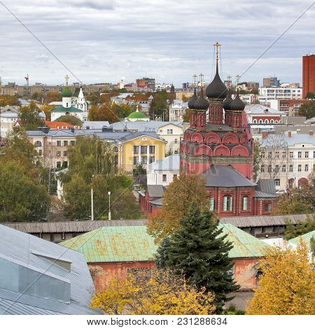 Yaroslavl, Russia - Septermber 20, 2016: Yaroslavl Is One Of The Oldest Russian Cities, Founded In T