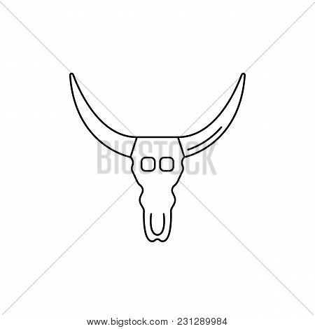 Cow Head Icon. Outline Cow Head Vector Icon For Web Design Isolated On White Background
