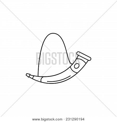 Horn Icon. Outline Horn Vector Icon For Web Design Isolated On White Background