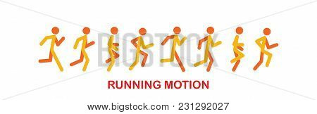 Running And Jogging People. Sport Run People Silhouette, Illustration Run And Jogging People. Runing