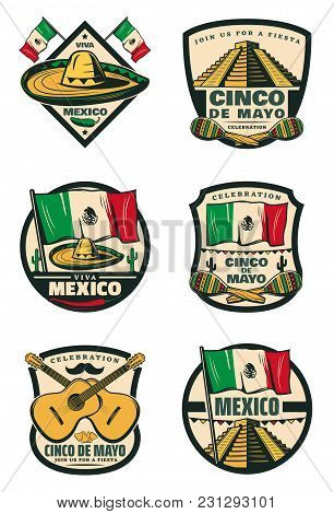 Cinco De Mayo Mexican Holiday Celebration Sketch Icons For For Mexico Traditional Fiesta Greeting Ca