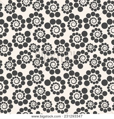 Seamless Geometric Pattern Dots Around . Can Be Used For Backgrounds And Page Fill Web Design. Illus