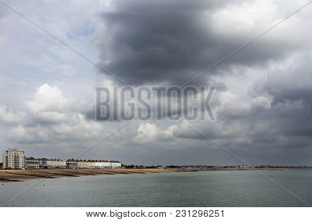 Eastbourne, East Sussex, England - May 29 - Panoramic View Of The Pier At Eastbourne, East Sussex, E