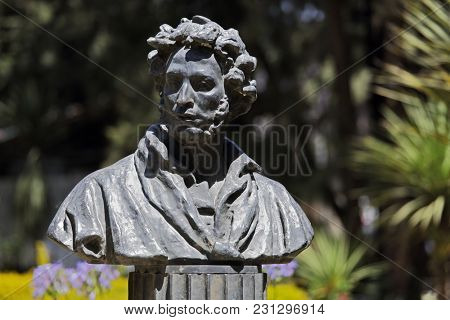 Addis-Ababa, February 06, 2018: monument to the famous Russian poet and writer Alexander Pushkin