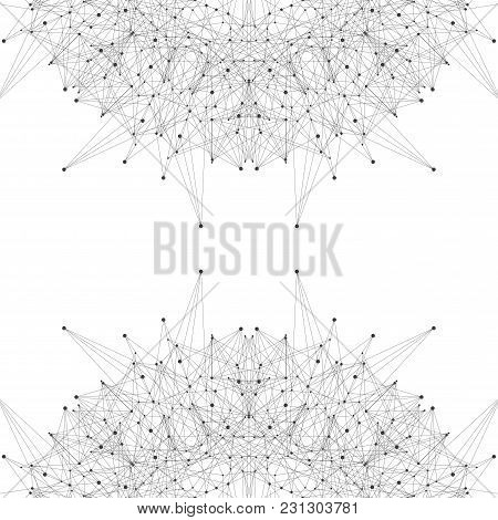 Graphic Background Molecule And Communication. Connected Lines With Dots. Modern Illustration.