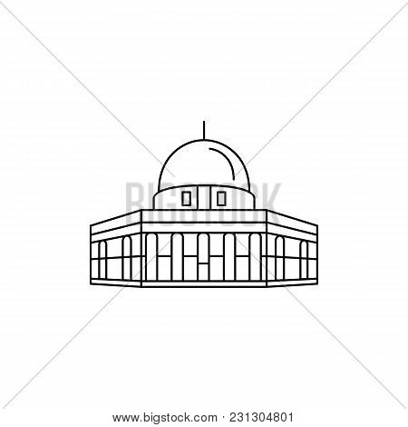 Mosque Icon. Outline Mosque Vector Icon For Web Design Isolated On White Background