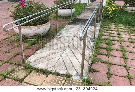 Ramp For Disable People Through The Building