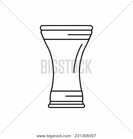 Darbuka Icon. Outline Darbuka Vector Icon For Web Design Isolated On White Background