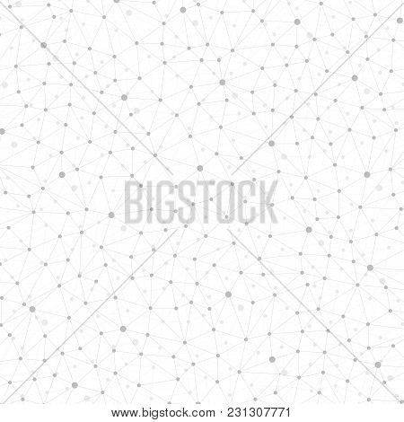 Graphic Abstract Background Communication. Geometric Scientific Pattern With Compounds. Minimal Arra