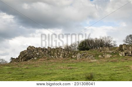 An Image Of An Ancient Outcrop Of Rocks Dating Back 700 Million Years. Shot At Beacon Hill Country P