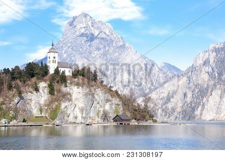 Johannesberg Chapel In Salzkammergut, Resort Area Located In Austria, Europe