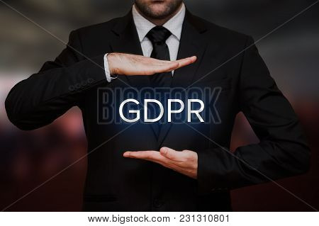 General Data Protection Regulation (gdpr) Concept On Blurry Bokeh Background