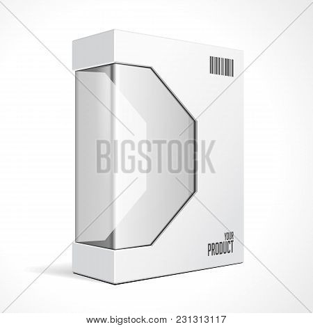 White Modern Software Package Box For Dvd, Cd Disk Or Other Your Product Eps10