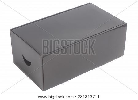 Black Box Isolated On A White Background
