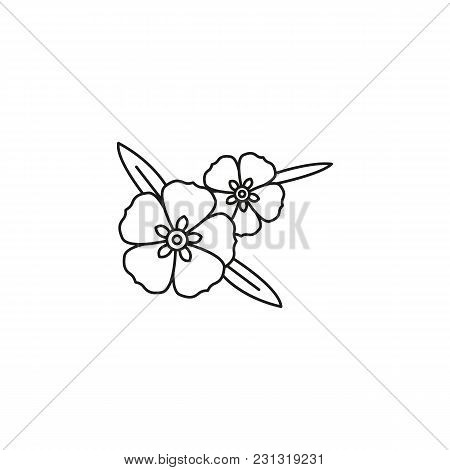 Rock Rose Icon. Outline Rock Rose Vector Icon For Web Design Isolated On White Background