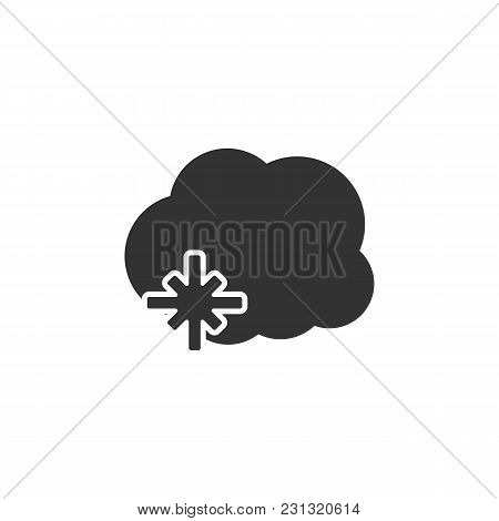 Cloud Weather Icon With Snow Isolated Vector