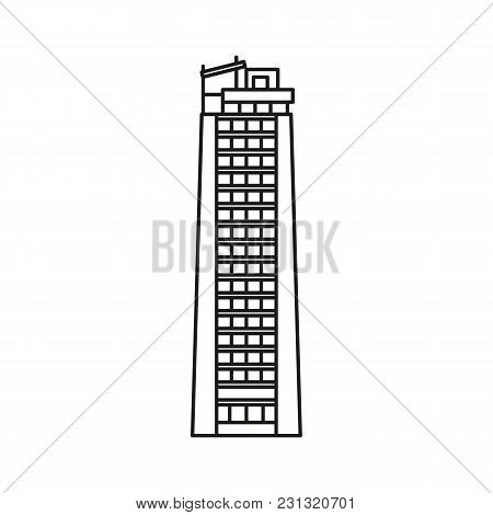 Tower Sky Icon. Outline Tower Sky Vector Icon For Web Design Isolated On White Background