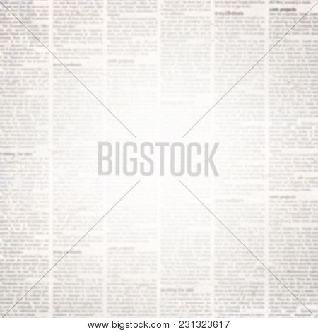 Newspaper Paper Background With Space For Text. Old Grunge Unreadable Vintage Newspaper Paper Textur