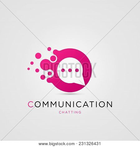 Communication Symbol. Speech Bubbles. Consulting Agency. Chat. Social Media Icon. Vector Illustratio