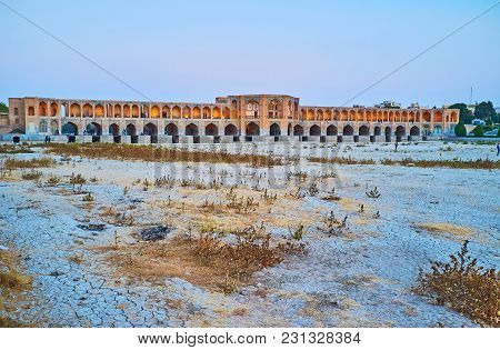 The Outstanding Safavid Era Khaju Bridge Is One Of The Main City Landmarks And Fine Example Of Persi