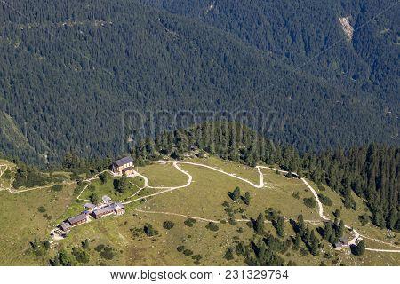 Schachen Castle In The German Alps In Summer