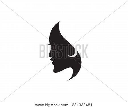 Hair Woman And Face Logo And Symbols Vector