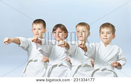 Children Are Hitting A Punch Arm On A Light Background