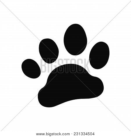 Dog Paw Print . Paw Icon. Vector Illustration