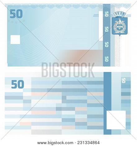 Gift Certificate Voucher Template With Guilloche Pattern Watermarks And Border. Background Usable Fo