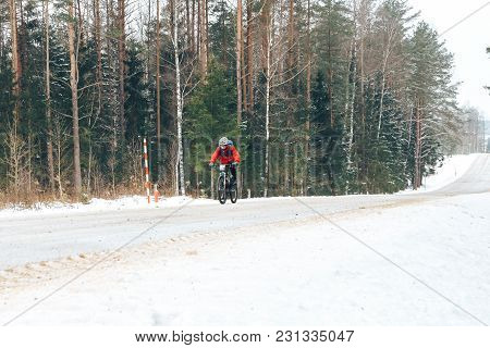27 January 2018, Minsk, Belarus: Winter Minus 100 Cross-country And Cross-country Cycling Competitio