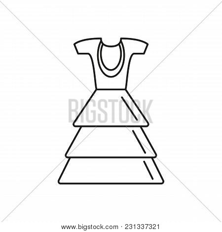 Cuba Dress Icon. Outline Cuba Dress Vector Icon For Web Design Isolated On White Background