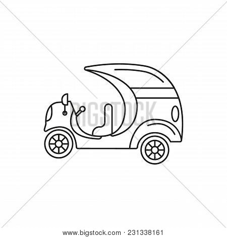 Coco Taxi Icon. Outline Coco Taxi Vector Icon For Web Design Isolated On White Background