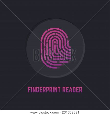 Technology Of The Fingerprint Scanner On The Device For Protection From Breaking, Loss, Theft. Icon