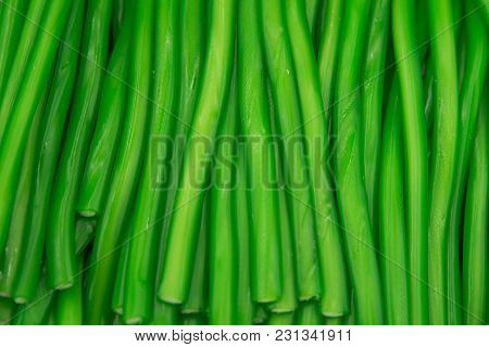 Green Texture Of Marmalade. Candy Close Up