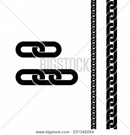 Chain Black Icon. Connection Symbol For Web Site Design, Logo, App, Ui. Vector Illustration Isolated