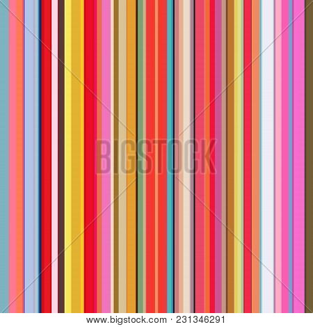 Color Lines Background. Colorful Stripes Designed For Magazine, Printing Products, Flyer, Presentati