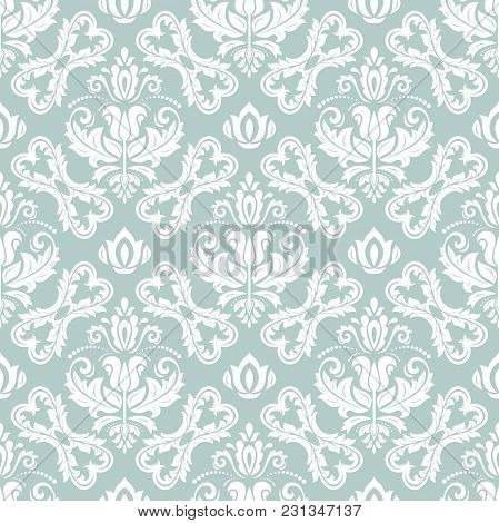 Classic Seamless Blue And White Pattern. Traditional Orient Ornament. Classic Vintage Background