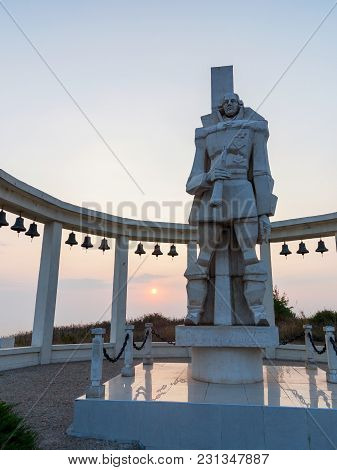 Cape Kaliakra, Bulgaria - July 31, 2016: The Monument To The Admiral Of The Fleet Of The Ottoman-alg