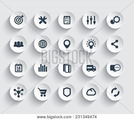 Web Icons Set, Marketing, E-commerce, Service, Eps 10 File, Easy To Edit